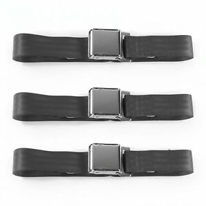 Ford Falcon 1966 1970 Airplane 2 Pt Charcoal Lap Bucket Seat Belt Kit 2