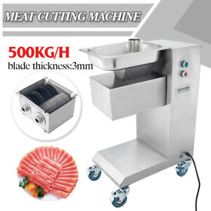 110v Meat Cutting Machine Meat Cutter Slicer 500kg Output With One Set Blade 3mm
