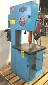 20 Doall Vertical Band Saw No 2013 v 13 Under Guide 55 2200fpm 26x26 30361