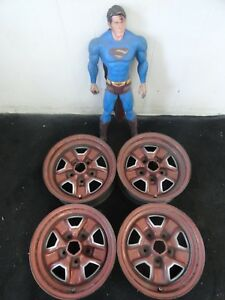 14 Oldsmobile Cutlass Rally Wheels Steel Painted 14x6 Rims Factory 1968 1981