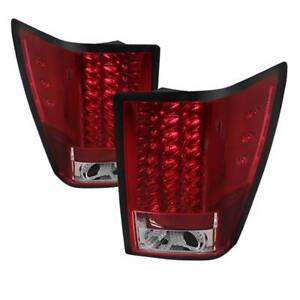 Spyder Led Tail Lights Red Clear For 07 10 Jeep Grand Cherokee