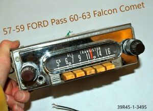 Old Ford Fomoco Classic 1957 1958 1959 Vintage Original Car Dash Radio Usa
