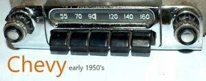 Car Radio Early 1950 s Old Chevy Chevrolet Gm Classic Usa With Presets Original