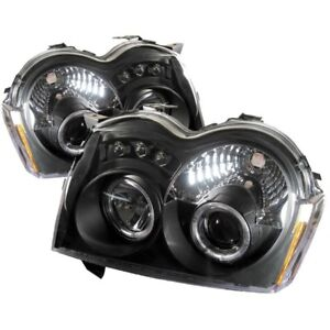 Spyder Projector Headlights Led Halo Black For 05 07 Jeep Grand Cherokee