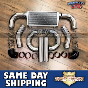 4 Turbo 31x12x4 Drag Race Intercooler Piping Kit Mustang Camaro 300zx 350z Supra