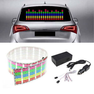 Car Sticker Music Rhythm Led Flash Light Lamp Sound Activated Equalizer 45 11cm