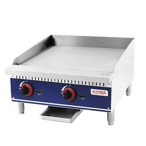 Commercial Countertop Manual Griddle Kitma 24 Natural Gas Flat Top Griddle