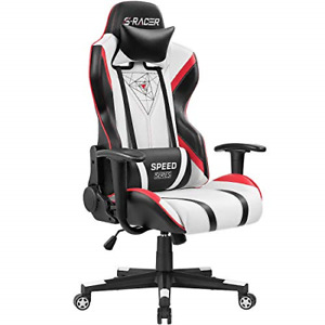 Homall Gaming Chair Racing Office Chair High Back Pu Leather Computer Desk Chair