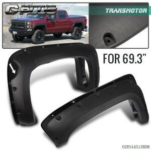 Textured For 07 13 Chevy Silverado 1500 69 Short Bed Fender Flares Pocket Style