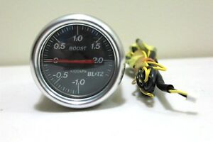 Blitz Turbo Boost Gauge Black 60mm Jdm Blitz Japan