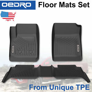 All Weather Floor Mats Liners For 2015 2020 Chevy Colorado Gmc Canyon Crew Cab