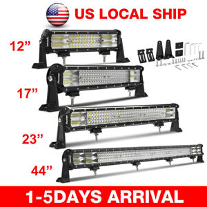 Quad Row 12 17 23 44 inch Led Work Light Bar Off Road Car Truck Suv Driving Lamp