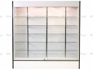 Wall White Display Show Case Retail Store Fixture W lights Knocked Down sc wc6w