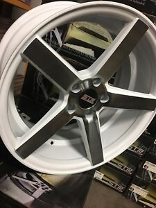 Str 607 18x8 5 5 114 3 White Machine Rims Fit Lexus Toyota Honda Acura Racing