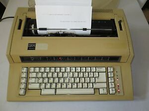 Vtg Ibm Actionwriter 1 Electric Typewriter 6715 001 Daisy Wheel Germany
