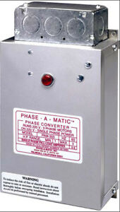 Phase a matic Pam 300 Static Phase Converter 1 3 Hp