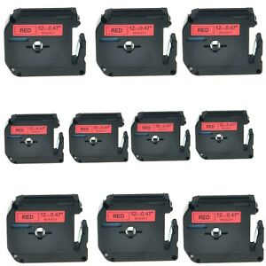 10pk M k431 Mk 431 Black On Red Label Tape For Brother P touch Pt 65sccp 1 2