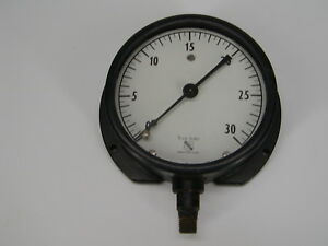 Ashcroft 1 2 In Subd Vacuum Gauge 0 30 Steampunk Wall Mount 4 5 Inch Across
