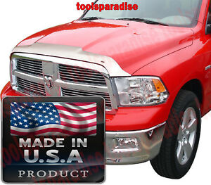 Chrome Hood Shield Bug Deflector 2009 2018 Dodge Ram 1500 Defender Guard