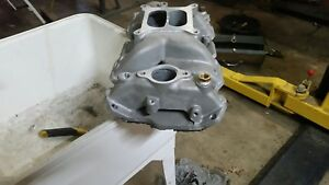 Sbc Small Block Chevy High Rise Dual Plane Intake Manifold Not Edelbrock 350 383