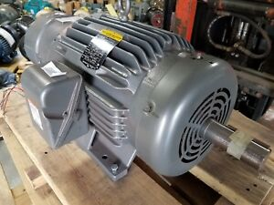 New Baldor 20 Hp 3 Phase Brake Motor Bm2334t 1 5 8 Diameter Shaft