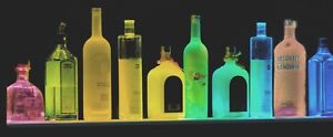 44 Multi color Led Liquor Bottle Display glass Display Bar Shelf Black W Remote