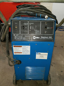 Miller Spectrum 500 Plasma Cutter Single Phase Excellent Cond spare Consumables