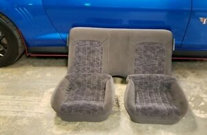 00 02 Camaro Rs Ss Z28 Ebony Cloth Rear Upper And Lower Back Seat 2000 01 2002