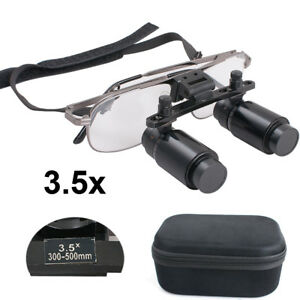 Dental Loupes 3 5x 300 500mm Adjustable Medical Surgical Binocular Zoom Dental