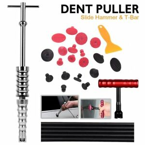 Paintless Dent Repair Hail Removal T bar Slide Hammer Glue Puller Automotive Aa