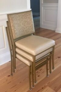 Shelby Williams Restaurant Banquet Chairs Stackable Bronze Floral 100 Available