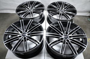 18 Wheels Ford Edge Fusion Honda Accord Civic Cr v Camry Rav 4 Black Rims 5 Lug