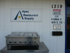 Natural Gas 36 Countertop Char Broiler Stainless Steel 3762