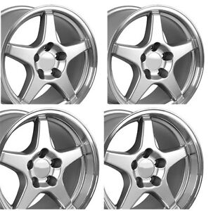Zr1 Style Wheel Set Silver Staggered Fitment