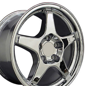 Zr1 Style Wheel Set Chrome Staggered Fitment