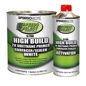 Super Fill High Build 2k Urethane Primer White Gallon Kit Ss 2790w Ss 2790a