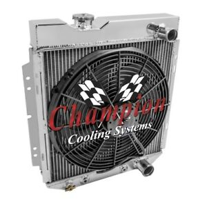3 Row Ace Champion Radiator W 16 Fan For 1964 1965 1966 Ford Mustang V8 Engine