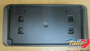 13 18 Jeep Wrangler Jk Rubicon Steel Bumper Front License Plate Bracket Oem