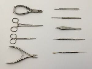 Set Of 9 Veterinary Minor Surgical Instruments