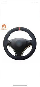 Mewant Bmw Steering Wheel Cover Black Suede Alcantara E9x Sport