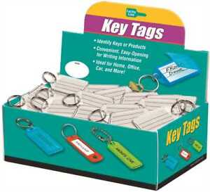 Lucky Line Products Key Tag With Split Ring Clear 100 Per Box