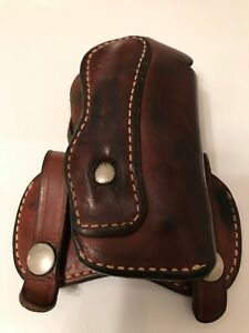 Rare Vintage Smith Wesson Brand Model B 24 62 J frame 2 Holster Brown Leather