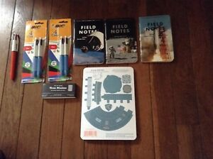 Field Notes Three Missions Notebooks Plus Capsule Paper Models 5 Bic 4 color
