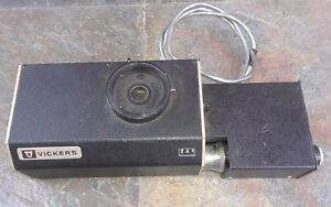 Vickers Instruments Inst No 577 Hardness Detector Patent No 1285184 Microscope