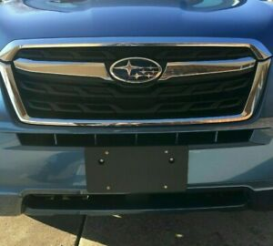 Front Round Bumper Holes License Plate Bracket For Subaru No Drilling Required