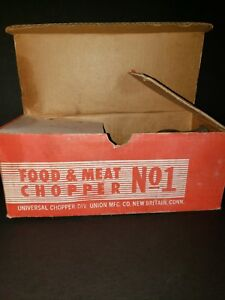 Vintage Universal Cast Iron Food Chopper Meat Grinder No 1 Box
