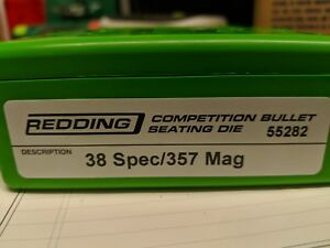 55282 REDDING COMPETITION SEATING DIE - 38 SPECIAL357 MAGNUM - NEW - FREE SHIP