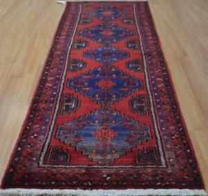 3 4x9 6 Geometric Genuine S Antique Persian Tribal Hand Knotted Wool Runner Rug