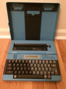 Rare Vintage Canon Personal Electric Typewriter Typemate 10 Untested D Batteries