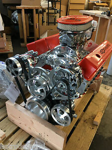 383 Stroker Motor 520hp Roller Turn Key A c Pro Street Chevy Crate Engine Sbc Ls